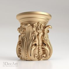 3D model of the carved capitals for production on CNC and visualization of scenes.