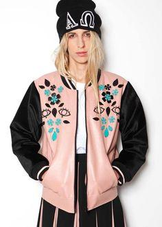 Embellishment bomber jacket