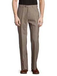 GIORGIO ARMANI Straight-Leg Wool Pants. #giorgioarmani #cloth #pants