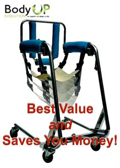 Best value AND  saves you money! Body UP® is your one piece of mobility equipment that may replace multiple others that will not be needed. Body UP® may take the place of power lifters, commode chairs, bath/shower seats, car/van access lifters, and can even replace your home wheelchair for most daily activities.  #patientlift