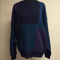 ❗️FIRM PRICE❗️Dope Color Block Sweater  Lightly worn, in good condition  70% acrylic 20% nylon 10% wool  True to size Comes from smoke & pet free home  FAST shipper ⚡️same day or next day  NO Trading, NO Holds  Bundling Available Sweaters Crew & Scoop Necks