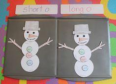 Build A Snowman: Long & Short O Vowel Review
