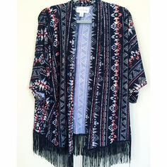 ░ⒽⓅ░ Fringe Kimono HOST PICK: 4-23-16  Let me know if you have any questions! ✖️ Vintage Jackets & Coats