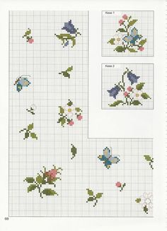 Cross Stitch Borders, Cross Stitch Flowers, Cross Stitch Designs, Cross Stitching, Cross Stitch Embroidery, Embroidery Patterns, Cross Stitch Patterns, Pinterest Cross Stitch, Crochet