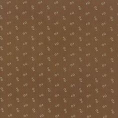 Coupon de Tissu Patchwork Quilt Gate petites fleurs sur fond chocolat  45x55cm