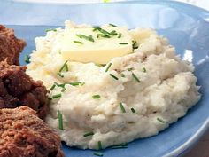 """""""Mock"""" Garlic Mashed Potatoes recipe from Low Carb and Lovin' It via Food Network"""