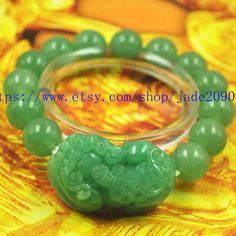 Free shippinghand carved jadeite jade beaded natural by jade2090, $26.99