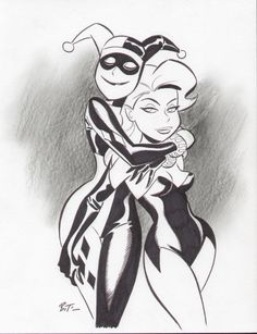 Harley & Ivy Front, in Steven Woo's Bruce Timm Comic Art Gallery Room - 358991
