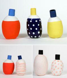 As cerâmicas coloridas dos designers Éric Hibelot & Jean-Marc Fondimare, que juntos comandam o L'atelier des Garçons na França.