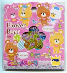 Image 0 of Crux Flower Bear Sticker Set Sack Pack #1 (IP0151)