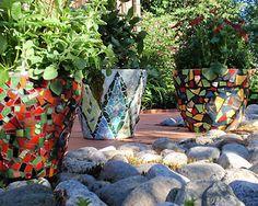 Mosaic containers by mosaiikkimiljoo