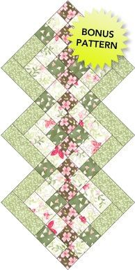 Diamond quilt block #textile #fabric Same pattern Lucile used for my runner