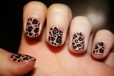 cheetah nails. doing this in purple right now.