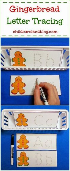 This week's free printable is Gingerbread Letter Tracing which is a great activity for letter recognition and fine motor skills. Available until Sunday December 22nd ... after that it will be available in the member's section of the site.