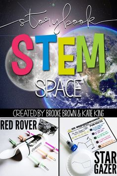 Storybook STEM: Spotlight on Science Space/Solar System/Constellations unit to accompany Life on Mars by John Agee and Stargazers by Gail Gibbons | First Grade, Second Grade, Third Grade | Elementary STEM Challenges | NGSS