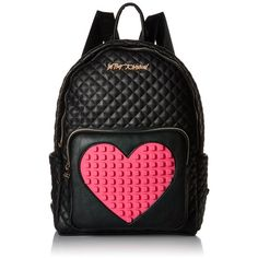 Betsey Johnson Buy A Vowel Backpack ($125) ❤ liked on Polyvore featuring bags, backpacks, backpack bags, betsey johnson bags, day pack backpack, knapsack bag and betsey johnson
