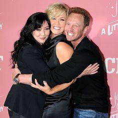 90210 reunion!  Shannen Doherty, Jennie Garth, and Ian Ziering.