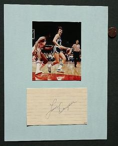ABA Kentucky Colonels Louie Dampier signed autograph-photo set-Hall of Famer too