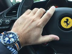 What do you think of this combination?  Order your Swiss made racing chronograph at www.lemarqwatches.com
