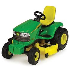 This die-cast and plastic John Deere Lawn Tractor is a great addition to any John Deere collection. John Deere Lawn Mower, Lawn Mower Tractor, John Deere Toys, John Deere Tractors, Lego Rubiks Cube, Tomy Toys, Utility Tractor, Lawn And Garden, Gardening