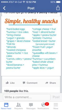 Healthy Snacks -  Thanks for sharing - love this!!