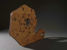 Material: laser-cut plywood