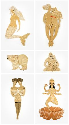 Maria Dubrovskaya's whimsical cut out paper dolls