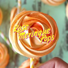 Meringue cookie pops.