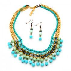 Collar Etnik Azul  Compra tus accesorios en www.dulceencanto.com #accesorios…