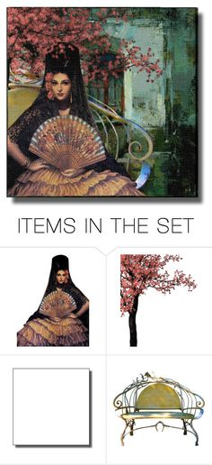 """""""Spanish Garden"""" by ritadolce ❤ liked on Polyvore featuring art"""