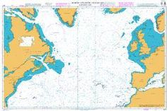 British Admiralty Nautical Chart 4011: North Atlantic Ocean Northern Part