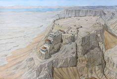 Israel - Masada (Masada) - Natural fortress overlooking the Dead Sea