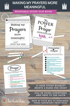 """""""How can I make my prayers more meaningful?""""  This study book is really fun to color and fill in with doctrines and principles from True to the Faith, the scriptures and General Conference talks.  Then you can just keep it by your bed as you develop new habits of prayer.  Goes perfectly with the May young women lessons!  #maycomefollowme #ldsprayerlesson"""