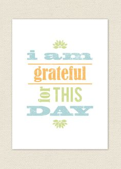 Grateful // Quote // Typographic Art Print by PaperRouteStationery, $10.00