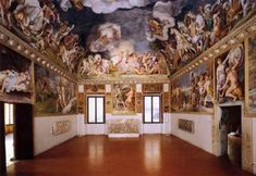 GIULIO ROMANO (b. ca. 1499, Roma, d. 1546, Mantova) Click! View of the Sala di Troia 1536-40 Fresco Sala di Troia, Palazzo Ducale, Mantua As work was coming to an end at the Palazzo del Tè, Giulio Romano increased the number of new projects in various places and varying degrees of importance. One of his most significant projects in this period, though, was the decoration of Federico Gonzaga's official apartment in the Palazzo Ducale, Mantua, later called the Appartamento di Troia (Troy…