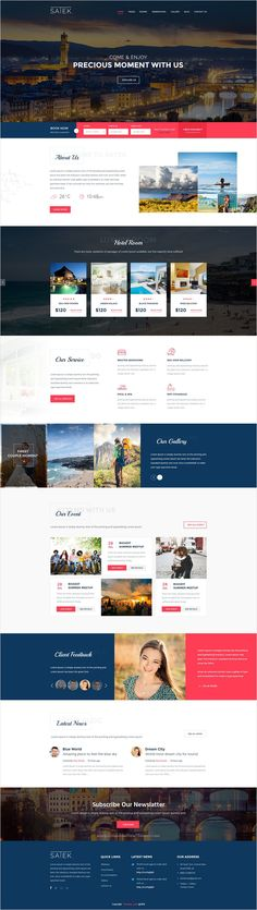 Satek is wonderful premium #PSD #template for #hotel, #resort and travel Business website with 2 homepage layouts download now➩ https://themeforest.net/item/satek-hotel-resort-psd-template/17460501?ref=Datasata