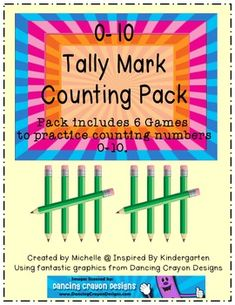 6 Games/Centers you can use to have students practice counting numbers 0-10. {FREE!}