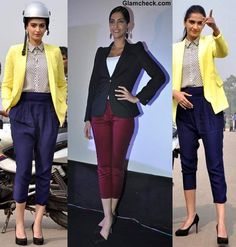 Sonam Kapoor Style Inspiration - Wearing Blazer Cropped Pants