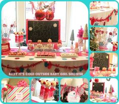 Baby's It's Cold Outside Baby Girl Shower