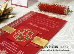 Luxury Custom Indian Wedding Invitation