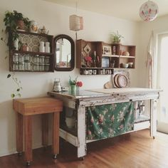 my man has done a fabby job with our kitchen addition made from 'bobby bargain' secondhand finds (Dottie Angel)