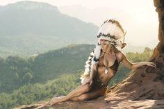 "Proy. Sioux Woman & Monse .... Makawee ""Doncella de la tierra"" model; Montse Morales mua; Carlos Mora Garcia styling; Liberty Design  photo; Jose Macón"