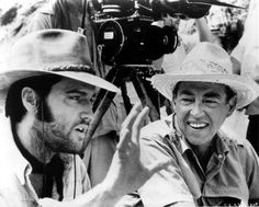 Elvis and Director Charles Marquis Warren on the set of CHARRO!  1969