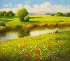 "Gerhard Nesvadba ""Summer Creek"" http://www.artshopnc.com/component/content/article/318.html"