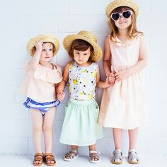Some little ladies ready to partay!  How cool is this shot by @hipster_mum for @bobuxshoes featuring @hellominouche clothes and our @acornkids hats  lurve your work @hipster_mum #acornkids #kidshats #hats #sunhats #kidsfashion #photoshoot