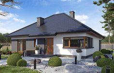 Projekt domu parterowego TK34 o pow. 110,42 m2 z dachem kopertowym, z tarasem, sprawdź! Outdoor Decor, Home Decor, Projects, Decoration Home, Room Decor, Home Interior Design, Home Decoration, Interior Design