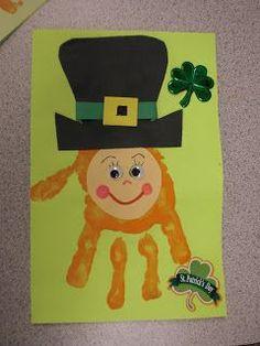 St. Patrick's Day Leprechaun Hand Print Art