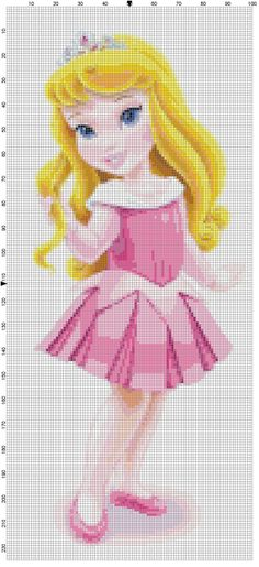 Mini Aurora cross stitch pattern PDF on Etsy, $1.97