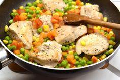 Tejszínes-zöldséges csirke recept Hungarian Recipes, Potato Salad, Chicken Recipes, Good Food, Curry, Health Fitness, Food And Drink, Paleo, Tasty
