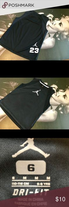 Jordan 23 Jumpman Dri-Fit Tank Top Size 6 Youth 🔥 Jordan 23 Jumpman Dri-Fit sleeveless Tank-top in perfect conditions with No stains, rips or tears 🤗 Has been worn only once in our home which is smoke-free and pet-free 💥 Perfect for the upcoming spring 🏀 Jordan Dri Fit Shirts & Tops Tank Tops